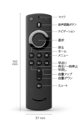 Fire-TV-Stick-4kのリモコン
