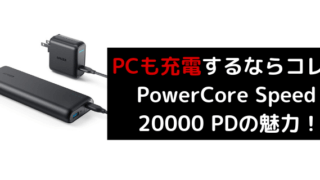PowerCore Speed 20000 PDのレビュー
